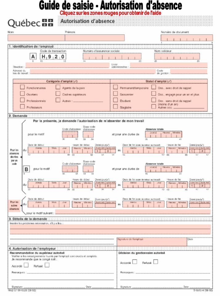 Congé pour affaires judiciaires 510 Juré - Joindre lavis délivré par lautorité judiciaire.