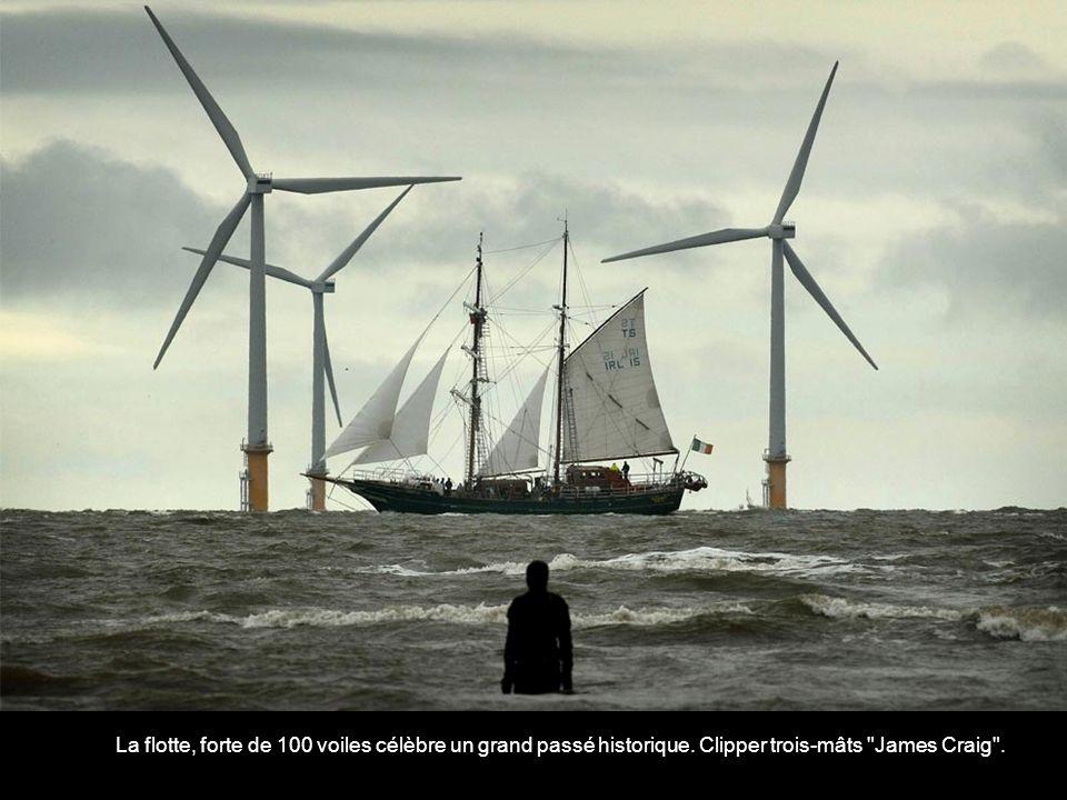 La flotte, forte de 100 voiles célèbre un grand passé historique. Clipper trois-mâts James Craig .