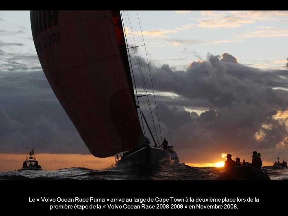L ARM « Cuauhtemoc », navire de la marine mexicaine, qui porte le nom du dernier empereur des Aztèques, toutes voiles sur la rivière Mersey, dans le cadre de la « Tall Ships race » à Liverpool, en Angleterre, le lundi 21 Juillet 2008.
