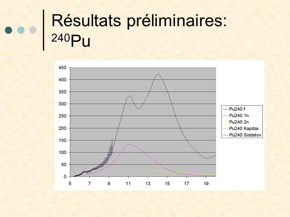 Résultats préliminaires: 240 Pu