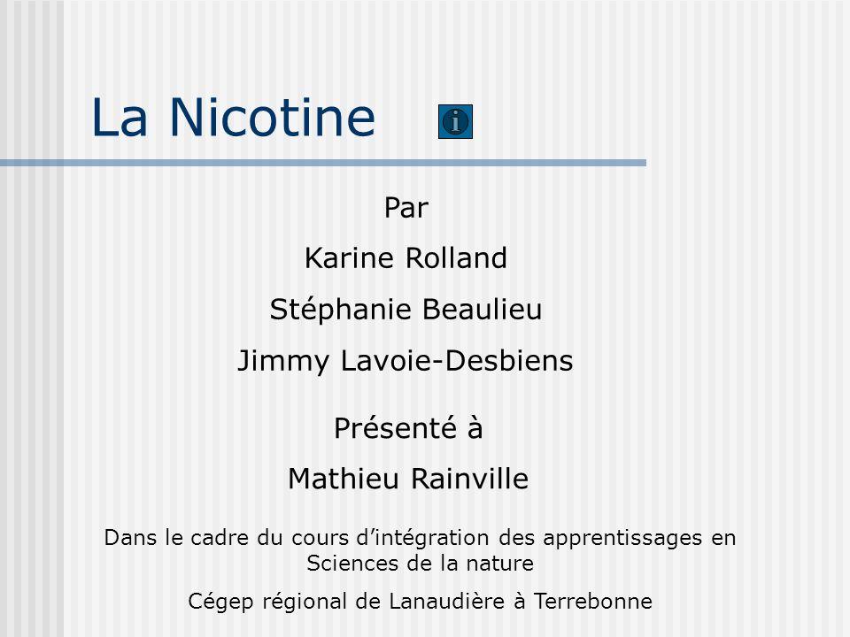 Nos résultats: leurs messages (suite) Validité de la nature du produit: les spectres IR sont presques identiques à ceux de la nicotine, nous avons donc le bon produit Comme nous avons 3 fois plus de nicotine avec la cigarette, nous pouvons supposer que les compagnies de tabac mettent plus de nicotine dans leur tabac