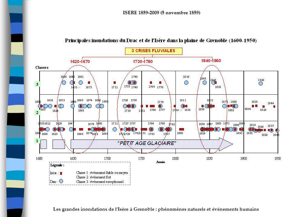Les grandes inondations de lIsère à Grenoble : phénomènes naturels et événements humains ISERE 1859-2009 (5 novembre 1859) INTRODUCTION Historical inf