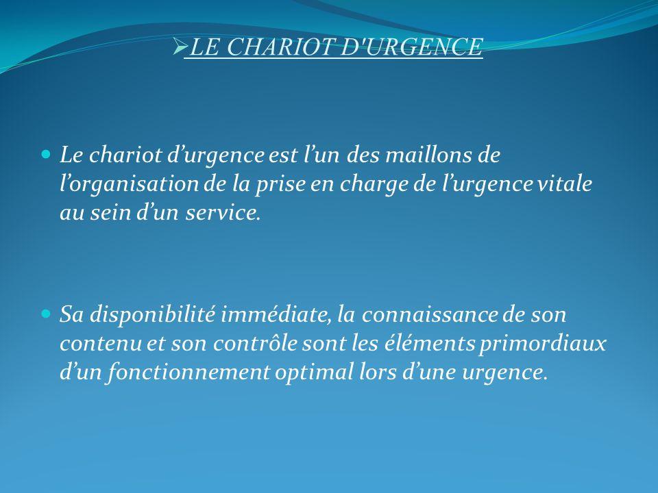 LE CHARIOT D URGENCE