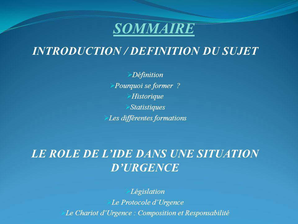 INTRODUCTION / DEFINITION DU SUJET Définition Pourquoi se former .