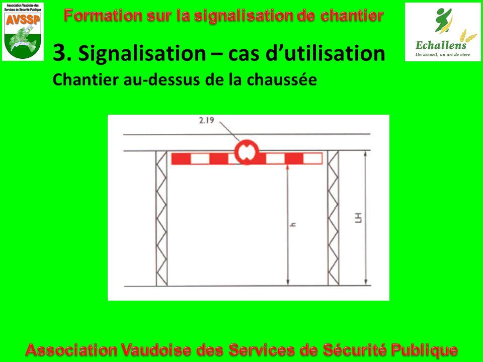 3. Signalisation – cas dutilisation Chantier au-dessus de la chaussée