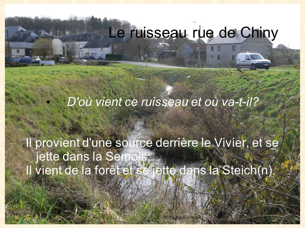 Le ruisseau rue de Chiny D où vient ce ruisseau et où va-t-il.
