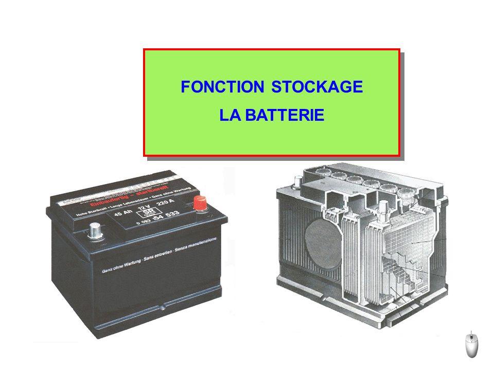 FONCTION STOCKAGE LA BATTERIE FONCTION STOCKAGE LA BATTERIE