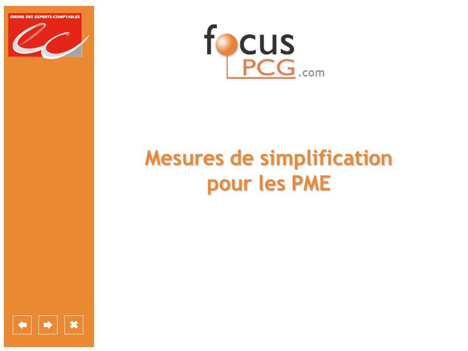 .com Mesures de simplification pour les PME