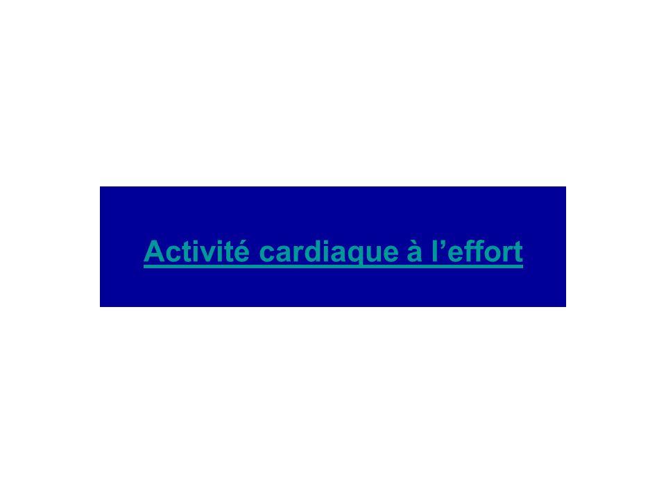 Activité cardiaque à leffort