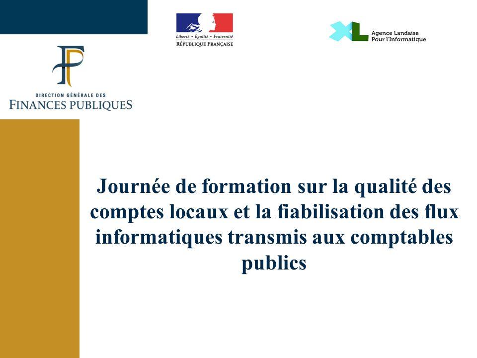 Journée de formation sur la qualité des comptes locaux et la fiabilisation des flux informatiques transmis aux comptables publics