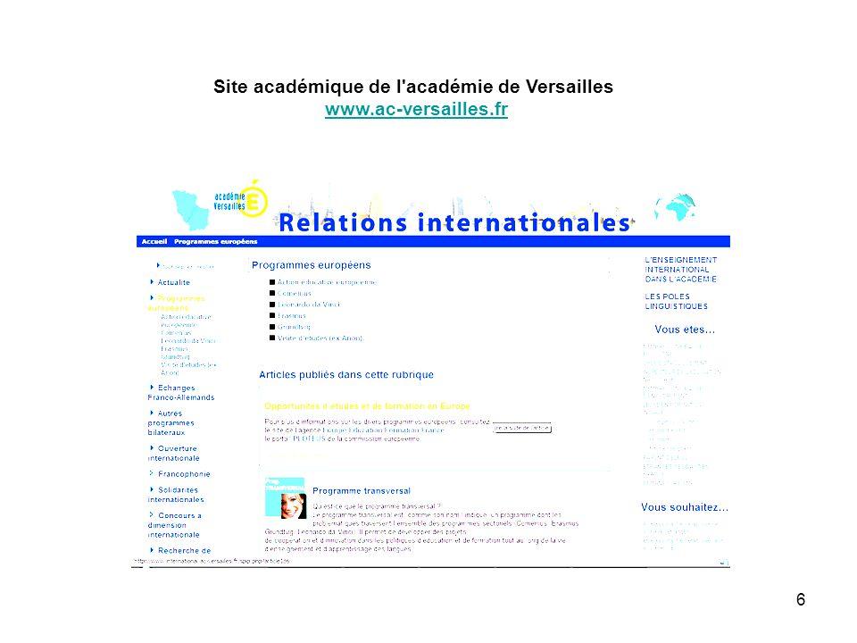 6 Site académique de l'académie de Versailles www.ac-versailles.fr