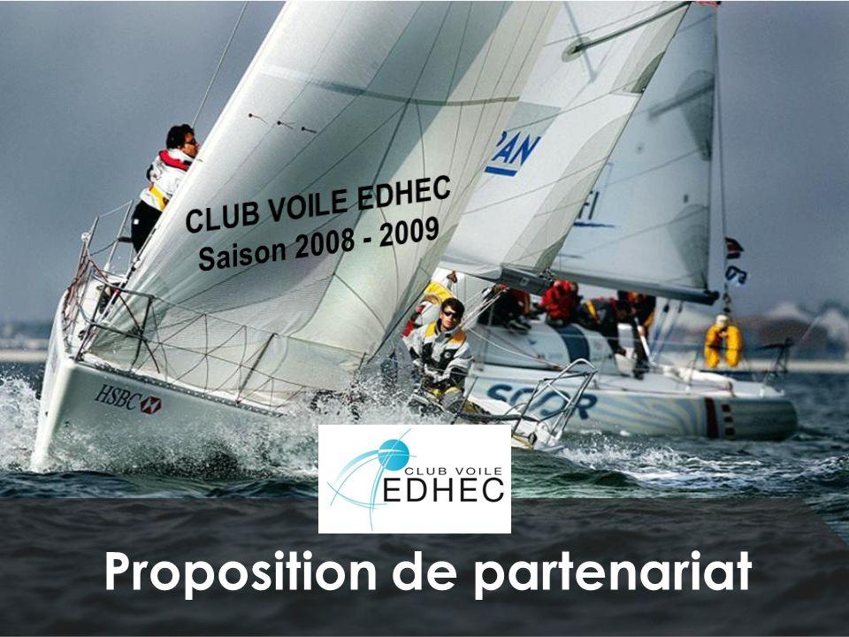 Nous contacter: Adresse: Club Voile EDHEC 58 rue du Port 59000 Lille Site internet: http://edhecvoile.free.frhttp://edhecvoile.free.fr Président: Stéphane Bolelli 06.71.95.09.75 stephane.bolelli@edhec.com Responsables entreprises: Damaris Homo 06.19.40.88.69 damaris.homo@edhec.com Mathieu Meril 06.03.79.33.18 mathieu.meril@edhec.com Merci pour lattention portée à notre proposition.