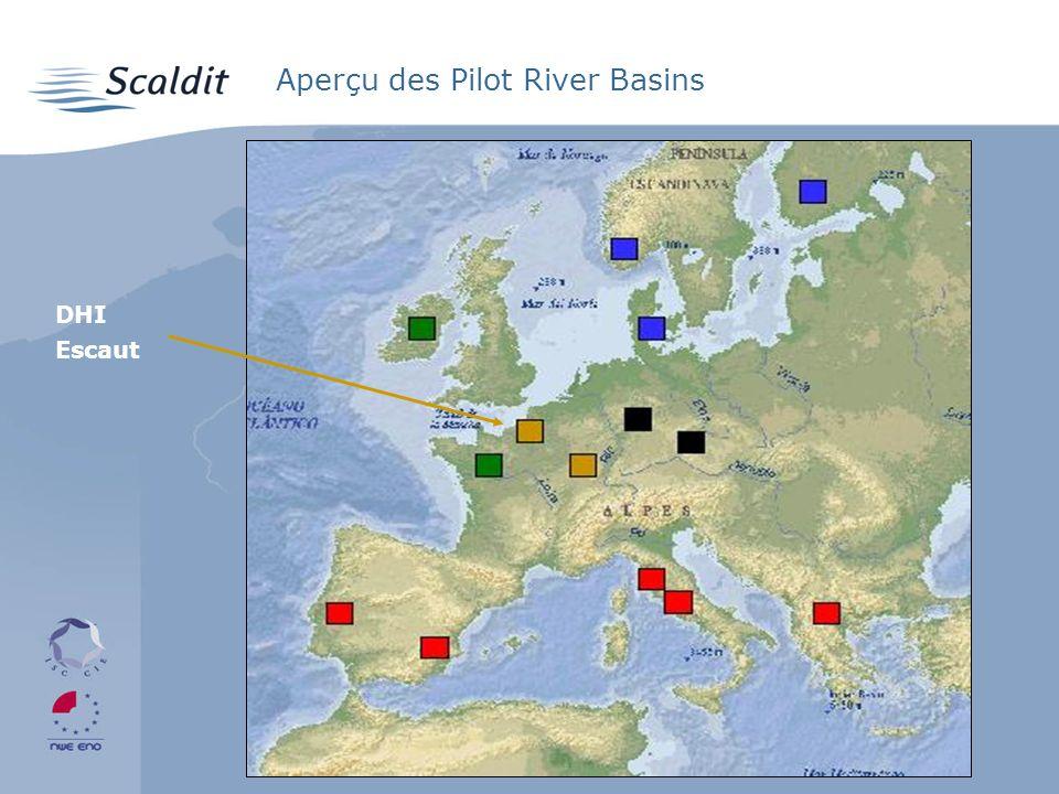Aperçu des Pilot River Basins DHI Escaut