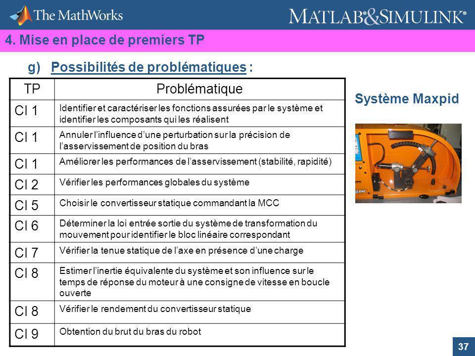 37 ® ® Système Maxpid TPProblématique CI 1 Identifier et caractériser les fonctions assurées par le système et identifier les composants qui les réali