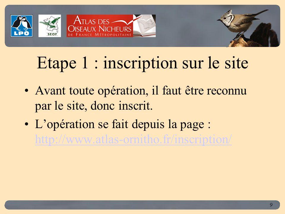 Click to edit Master title style 9 Etape 1 : inscription sur le site Avant toute opération, il faut être reconnu par le site, donc inscrit.