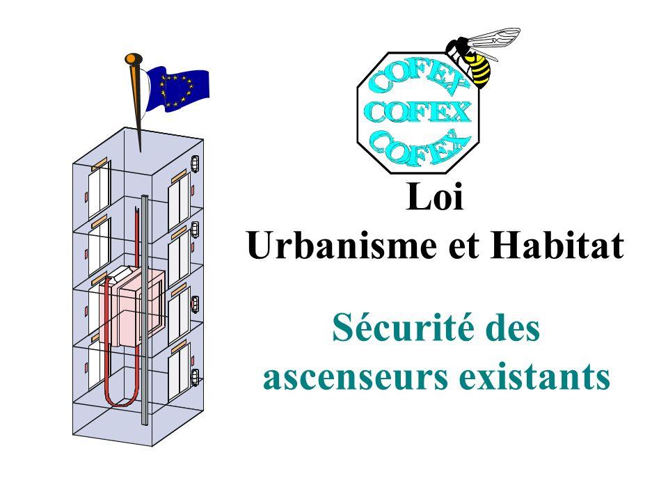 Loi Urbanisme et Habitat Sécurité des ascenseurs existants
