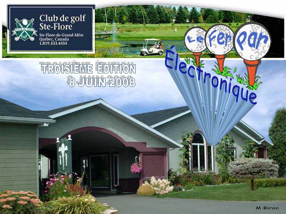 Au Club de golf de Plessisville, au trou no 22 à normal 4 sur le troisième parcours, lastucieuse Louise Aubry a ébahi ses partenaires de jeu Céline Charest, Pierre Michaud et son chum André.