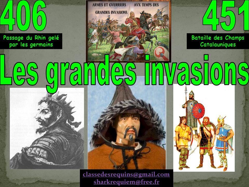 Linstallation des Germains en Gaule va durer 40 ans, elle est accompagnée de terribles destructions.