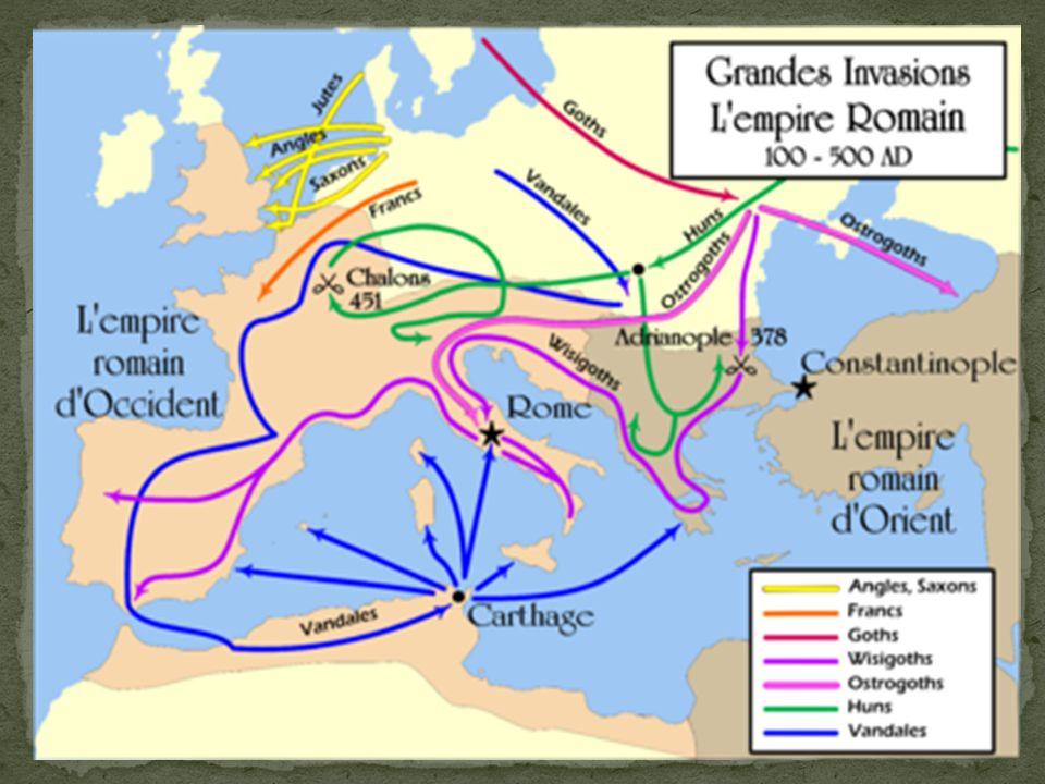 Dans larmée « Romaine » il ne reste que très peu de romains la plupart sont des mercenaires issus des peuples vaincus par Rome.
