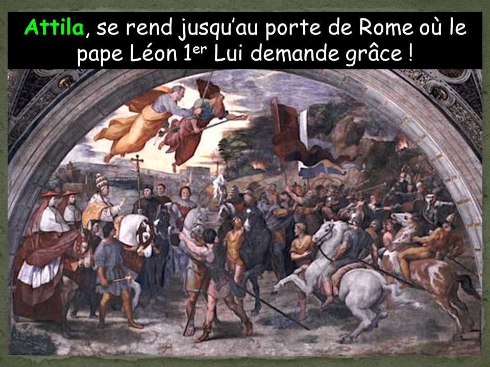 Un général Romain Syagrius continue de gouverner un morceau du pays. Cest alors que les Huns conduits par leur chef Attila, envahissent à leur tour la