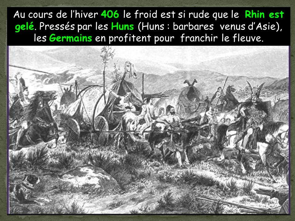 Les romains appellent Barbares tous les peuples qui vivent en dehors de leur Empire. A lest du Rhin vivent les tribus germaniques.