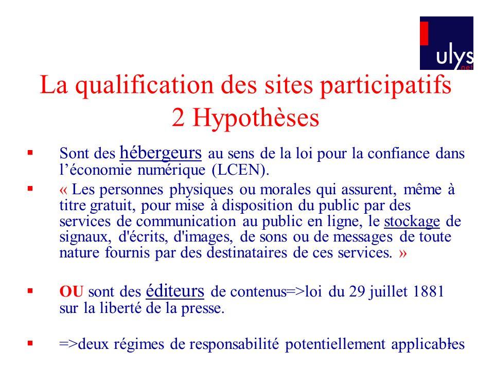 18 La jurisprudence est hésitante Exemple 2 Google Vidéo est un hébergeur TGI Paris, 19/10/2007, S.A.R.L.