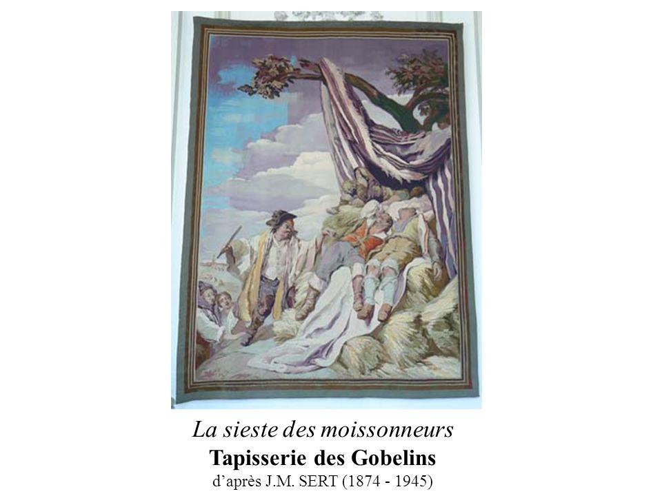 La sieste des moissonneurs Tapisserie des Gobelins daprès J.M. SERT (1874 - 1945)