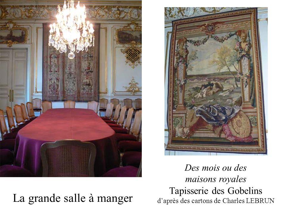 La grande salle à manger Des mois ou des maisons royales Tapisserie des Gobelins daprès des cartons de Charles LEBRUN