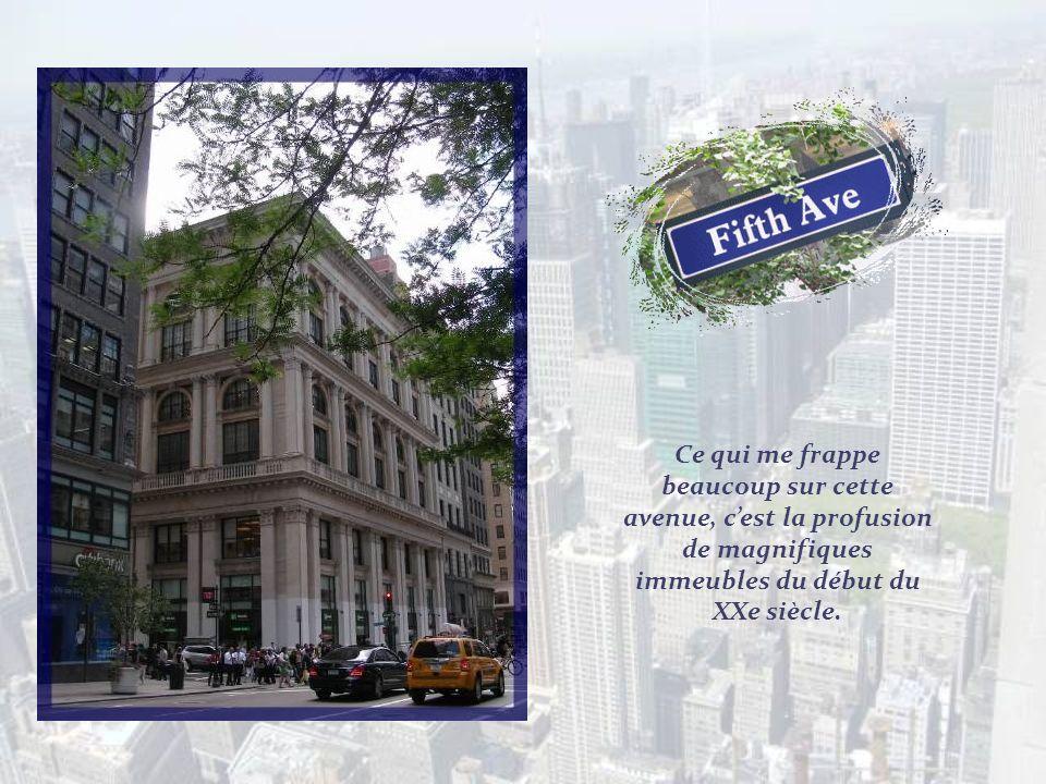 Longeant lextrémité sud du Central Park, nous rejoignons la célèbre Cinquième Avenue.