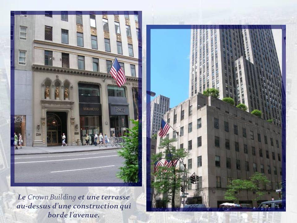 Au fond se profile lEmpire State Building que je nai pu photographier moi-même de près... De style Art Déco et mesurant 381 mètres sans lantenne, il f