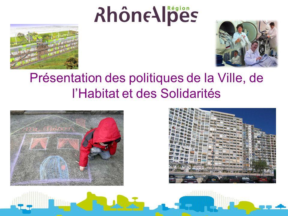 Présentation des politiques de la Ville, de lHabitat et des Solidarités