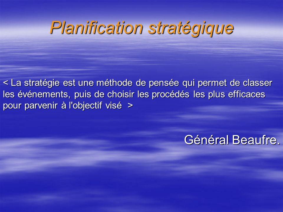 Planification stratégique Général Beaufre. Général Beaufre.