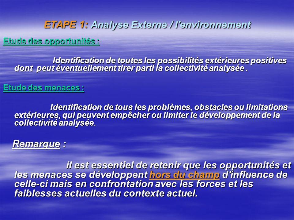 Objectif Identifier les axes stratégiques à développer dans le cadre du PCD, ou bien vérifier que la stratégie mise en place dans le cadre du PCD, con