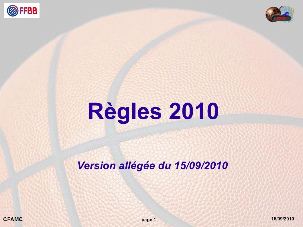 15/09/2010 CFAMC page 1 Règles 2010 Version allégée du 15/09/2010