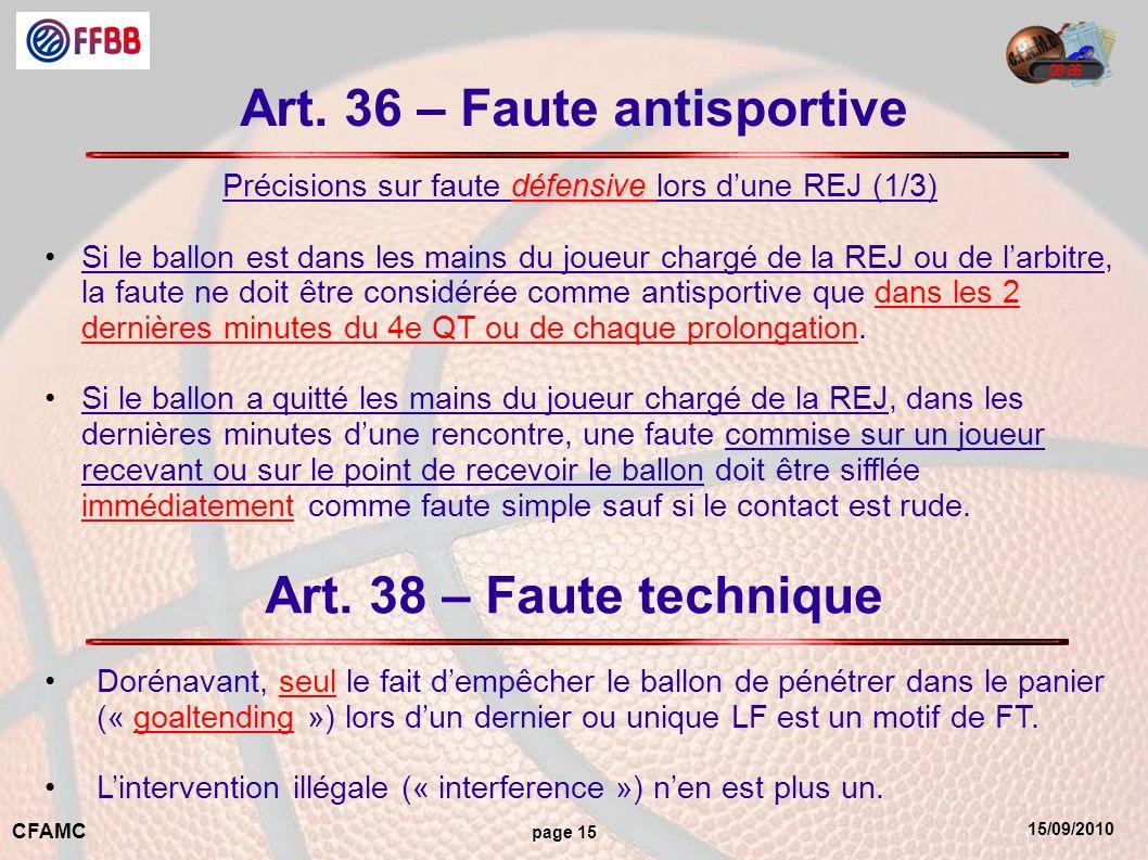 15/09/2010 CFAMC page 15 Art.