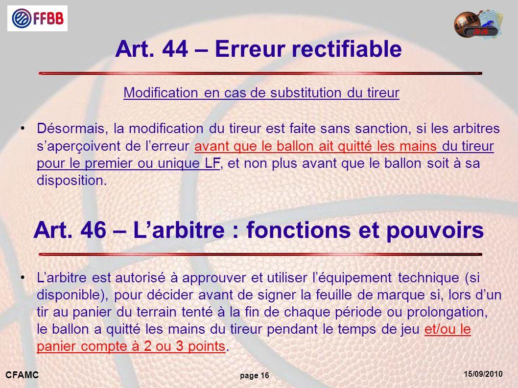 15/09/2010 CFAMC page 16 Art.