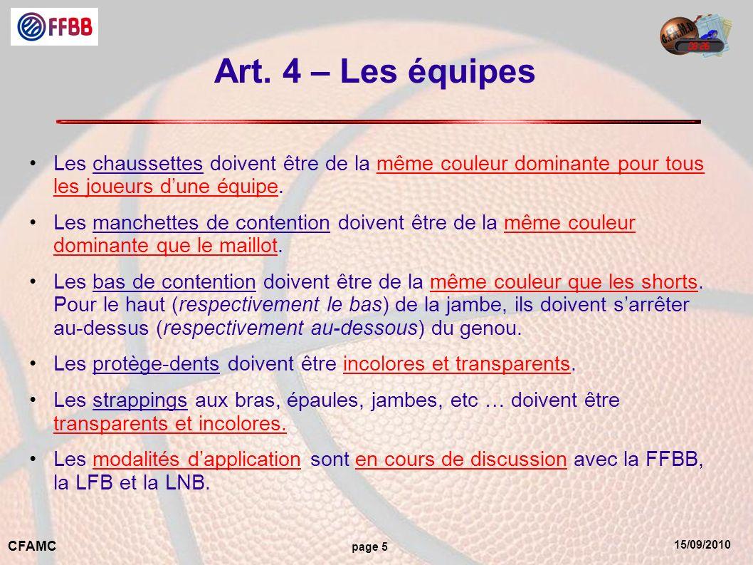 15/09/2010 CFAMC page 5 Art.