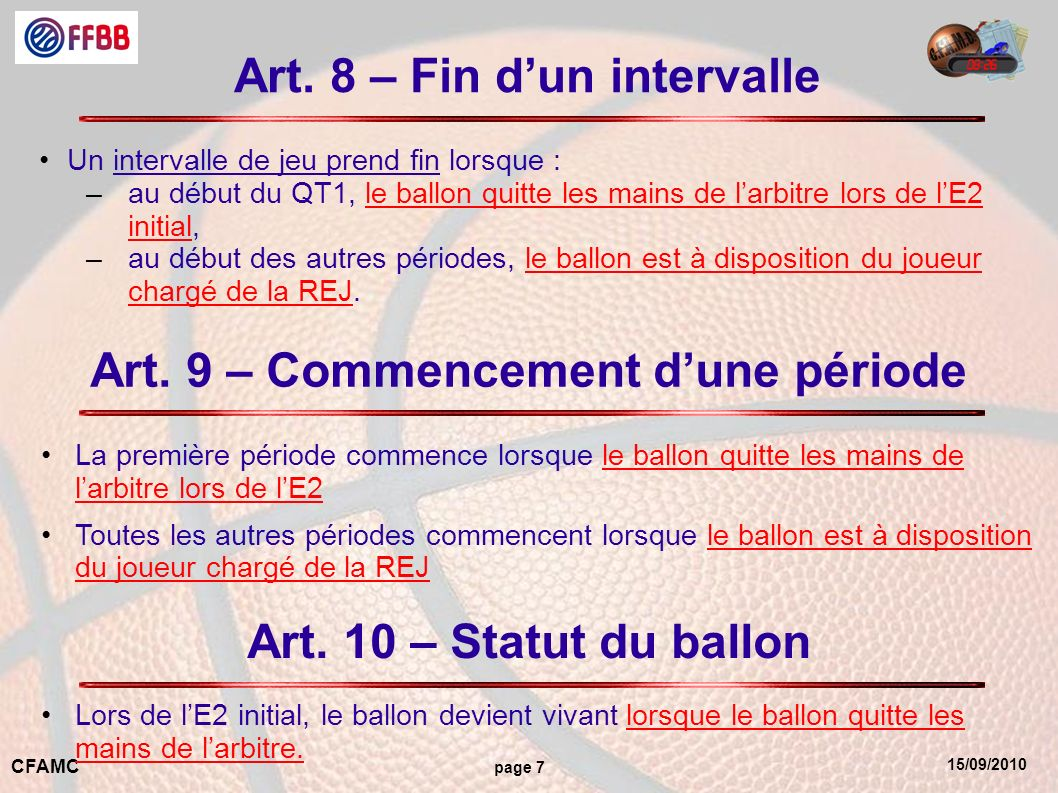 15/09/2010 CFAMC page 7 Art.