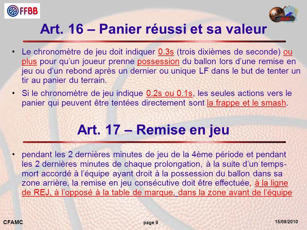 15/09/2010 CFAMC page 9 Art.