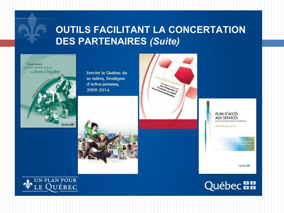 Enrichir le Québec de sa relève, Stratégies daction jeunesse, 2009-2014