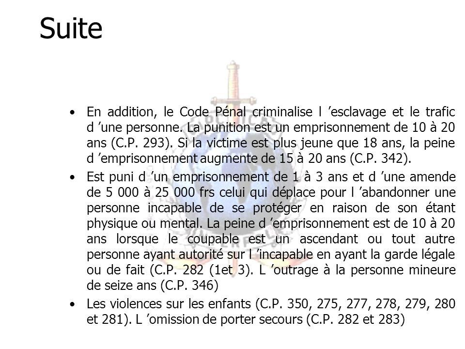Suite La constitution (Loi no 96/06 du 18 Janvier 1996 modifiant la constitution du 2 Juin 1972) et le Code du travail (Loi no 92/007 du 14 Août 1992, part 1, Section 2 (3) interdit le travail forcé ou obligatoire.