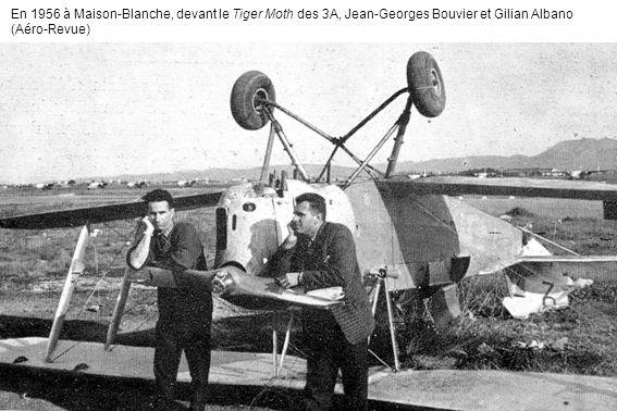 En 1956 à Maison-Blanche, devant le Tiger Moth des 3A, Jean-Georges Bouvier et Gilian Albano (Aéro-Revue)