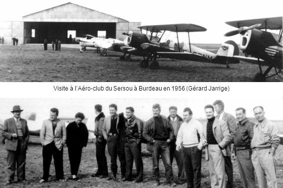 Visite à lAéro-club du Sersou à Burdeau en 1956 (Gérard Jarrige)