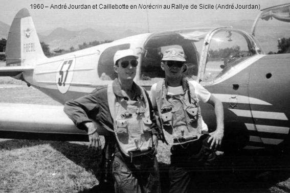 1960 – André Jourdan et Caillebotte en Norécrin au Rallye de Sicile (André Jourdan)