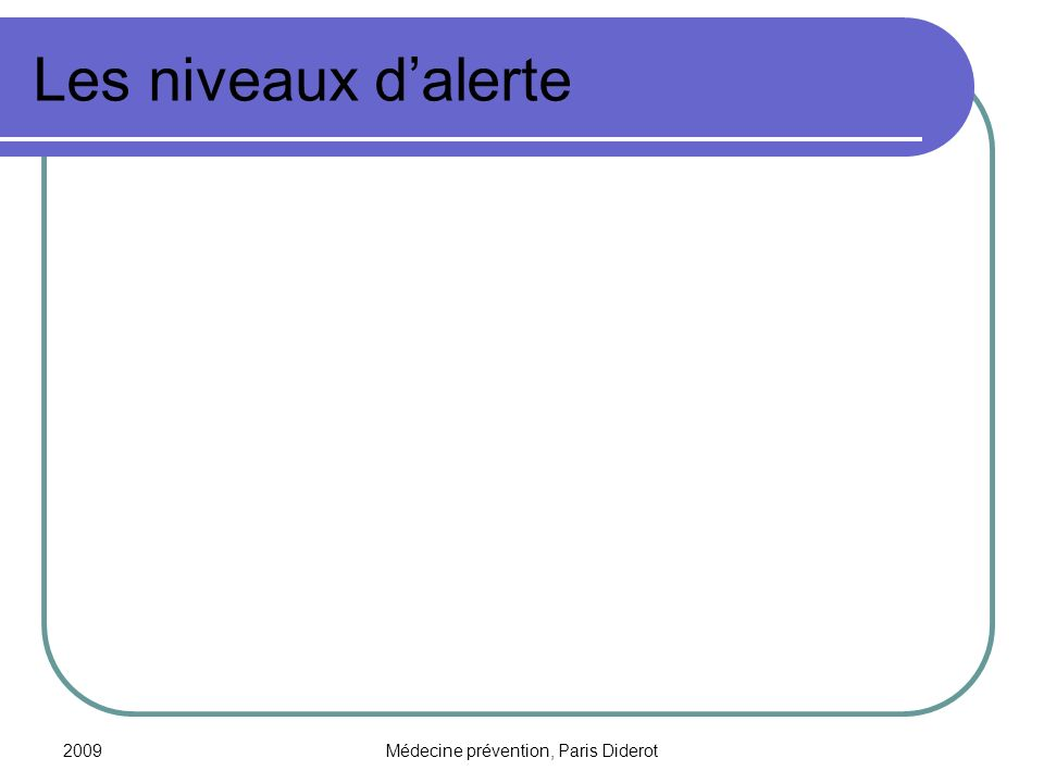 2009Médecine prévention, Paris Diderot Les mesures barrières : la protection respiratoire (1) Les masques: 2 types - le masque chirurgical : anti-projection, à porter par une personne malade, ou lors des déplacements en cas dalerte pandémique.