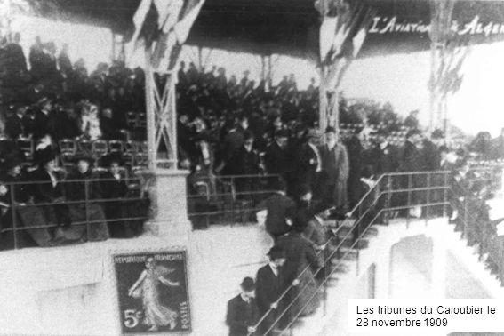 Les tribunes du Caroubier le 28 novembre 1909