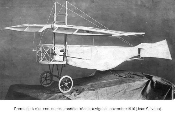 Premier prix dun concours de modèles réduits à Alger en novembre1910 (Jean Salvano)