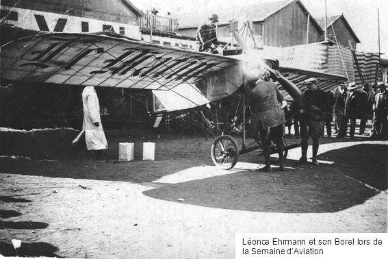 Léonce Ehrmann et son Borel lors de la Semaine dAviation