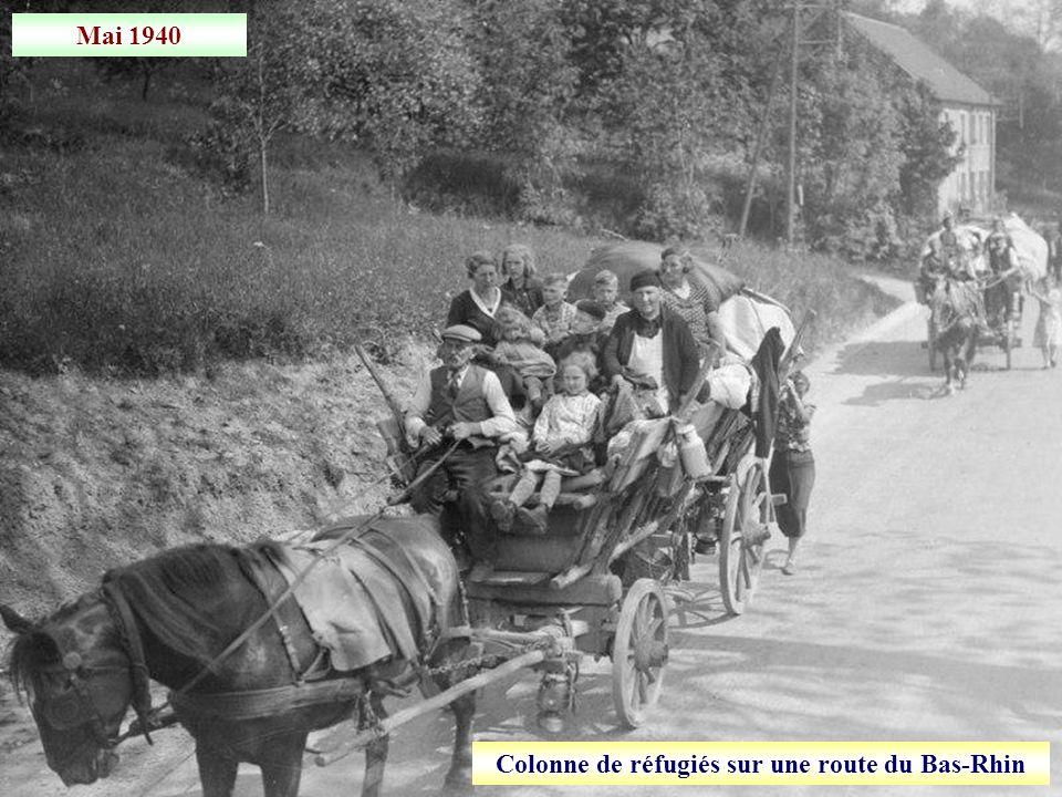 Mai 1940 Evacuation de la population civile de Thionville (Moselle)