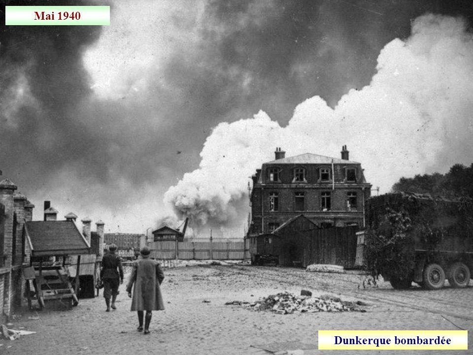 Mai 1940 Valenciennes bombardée